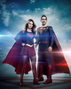Supergirl and Superman portrait